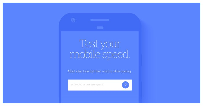 Mobile speed test by Test My Site