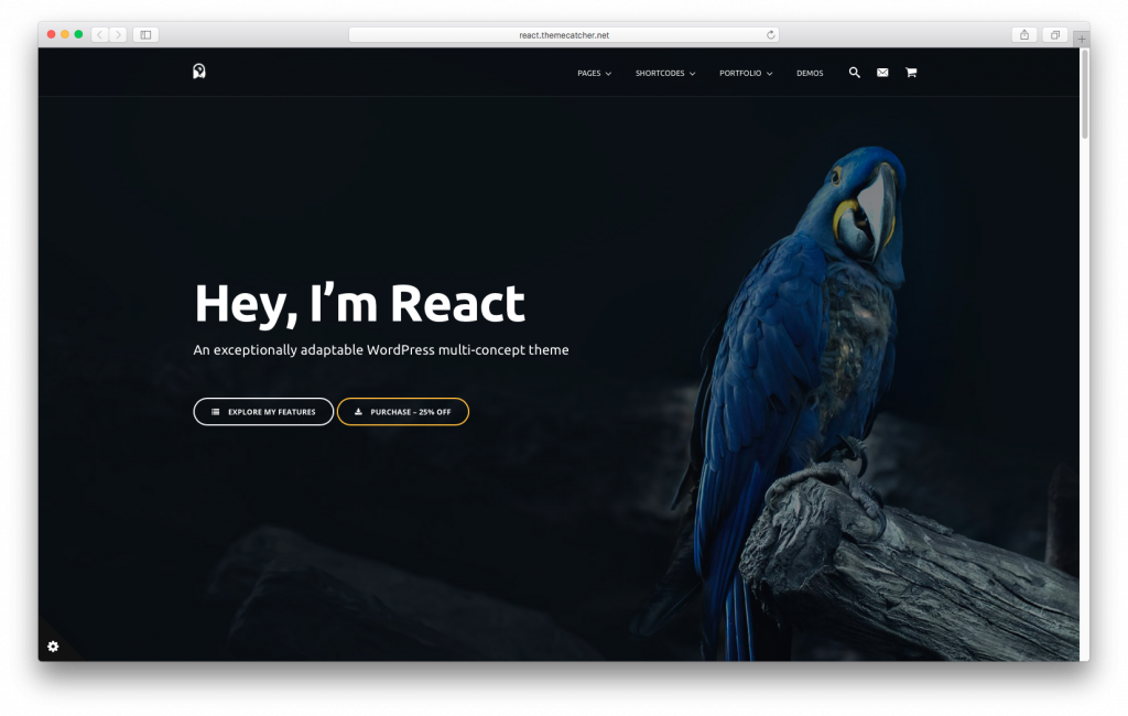 WordPress themes built with React - React WordPress Theme