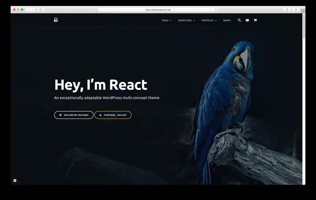 WordPress themes built with React - React WordPress Theme
