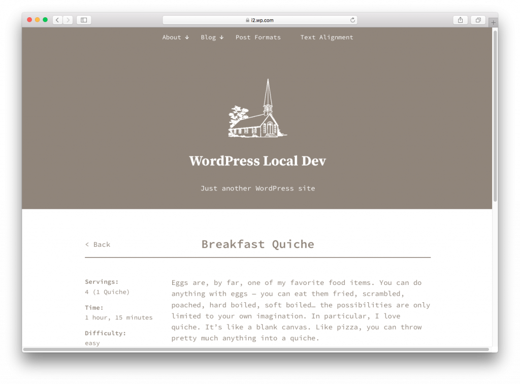WordPress themes built with React - anadama-react-wordpress-theme