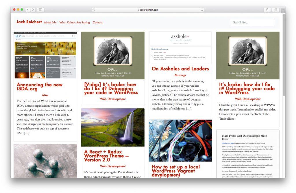 WordPress themes built with React - react-wordpress-theme