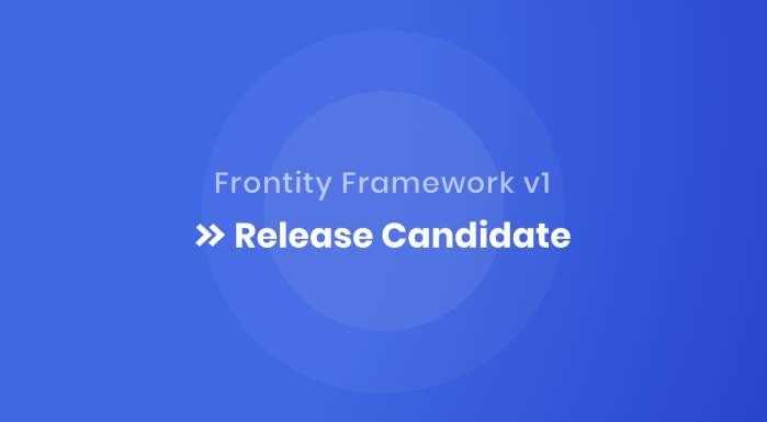 Frontity v1 Release Candidate