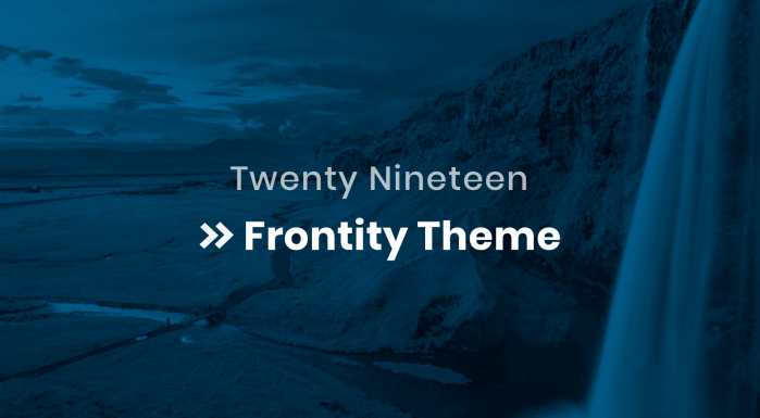 Twenty Nineteen Frontity Theme Featured Image
