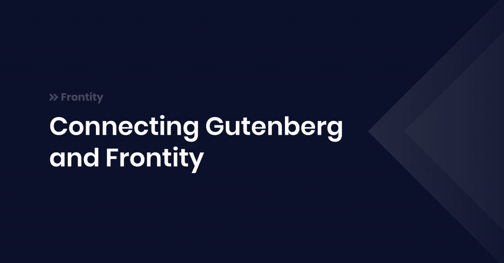 Gutenberg and Frontity blog post asset