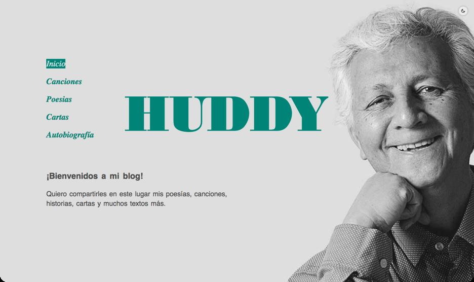 Huddy blog showcase screenshot